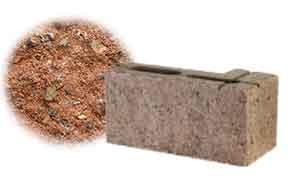 Облицовочный бетонный камень угловой Меликонполар СКЦ 2Л-4 красный 1.5%