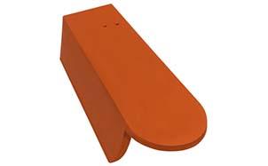 Керамическая черепица боковая левая 3/4 Koramic Biber Clinker Red Engobe