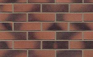 Кирпич клинкерный пустотелый Muhr 11 Rotviolett geflammt гладкий