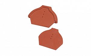Заглушка конечная для шпунтованного конька 17 см TONDACH 34-коричневый глазурь