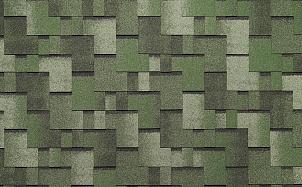 Гибкая черепица TEGOLA Nordland АЛЬПИН Зеленый с отливом