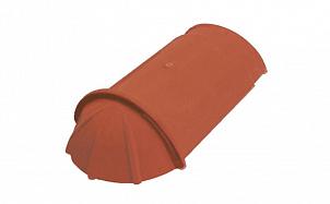 Керамическая черепица конечная коньковая гладкая 17 см TONDACH 10-красный ангоб