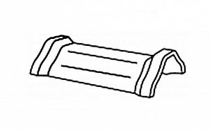 Керамическая коньковая черепица с зажимом для конька BRAAS Саттель глубокий черный глазурь