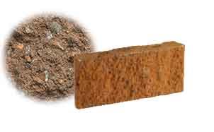 Облицовочный бетонный камень рядовой Меликонполар СКЦ 2Л-17 коричневый 5%