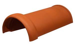 Керамическая черепица коньковая/хребтовая Koramic № 15 Red Engobe