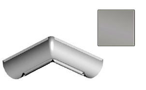 Угол желоба внутренний CM Vattern серебристый металлик 90 град.