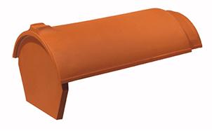 Керамическая черепица начальная коньковая Koramic № 3 Copper Brown Engobe