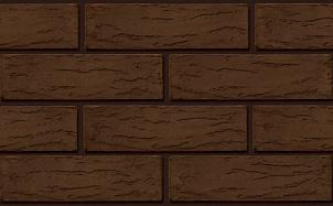 Кирпич лицевой керамический ЛСР пустотелый коричневый кора М175 250*120*65 мм