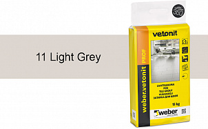 Затирка для швов weber.vetonit Prof 11 Light grey 15 кг
