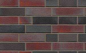 Кирпич клинкерный пустотелый Muhr 25 Violettschwarz гладкий
