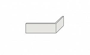 Угловая клинкерная фасадная плитка цельная Stroeher Kerabig KS 01 weis рельефная