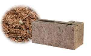 Облицовочный бетонный камень угловой Меликонполар СКЦ 2Л-4 коричневый 3%