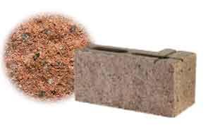 Облицовочный бетонный камень угловой Меликонполар СКЦ 2Л-4 гранитный