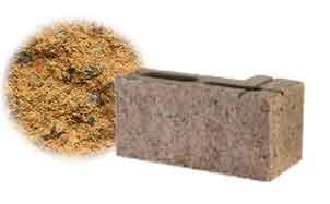 Облицовочный бетонный камень угловой Меликонполар СКЦ 2Л-4 бежевый