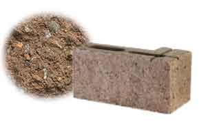 Облицовочный бетонный камень угловой Меликонполар СКЦ 2Л-4 коричневый 5%