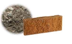 Облицовочный бетонный камень рядовой Меликонполар СКЦ 2Л-11 черный