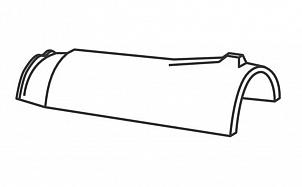Керамическая коньковая черепица с зажимом конька BRAAS Опал королевский серый глазурь