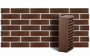 Кирпич лицевой керамический ЛСР пустотелый темно-коричневый гладкий М175 250*120*65 мм
