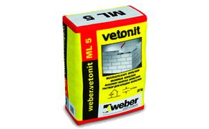 Кладочный раствор weber.vetonit ML 5 1000 кг