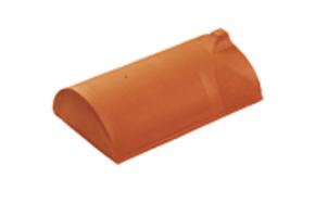 Керамическая черепица конечная коньковая Koramic №1 Natural Red