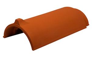 Керамическая черепица коньковая/хребтовая Koramic №1 Red Engobe