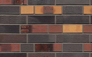 Кирпич клинкерный пустотелый Muhr 40 Kobalt Spezial geflammt гладкий