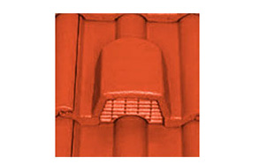 Керамическая вентиляционная черепица BRAAS Галлеан Красный виноград