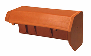 Керамическая черепица пультовая начальная Koramic Copper/Old red