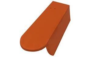 Керамическая черепица боковая правая 3/4 Koramic Biber Copper Brown Engobe