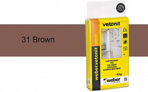 Затирка для швов weber.vetonit Deco 31 Brown