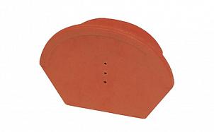 Коньковая заглушка универсальная гладкая 17 см TONDACH 72-натур глазурь